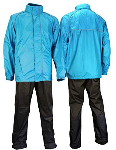 Ralka Regenanzug Komfort für Erwachsene, Blau Anthrazit, L