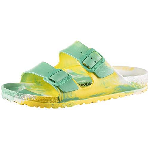 BIRKENSTOCK Arizona Eva Multi Color Jade/Vibrant Yellow/White Größe EU 41 Schmal