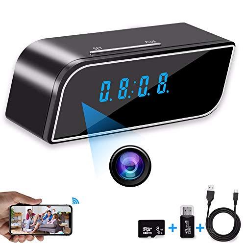 HSTD Cámara espía WiFi- Cámara de Reloj - CáMara Oculta PortáTil, HD 1080P, Detección de Movimiento Soporte Control de Aplicaciones, Camaras de Seguridad Pequeña Interior/Exterior