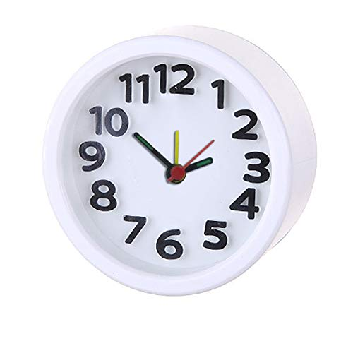 Alarm Clock,Small and Light Weight for Travel,Simple and Useful,Handheld Sized, Best Gift for Kids (White)