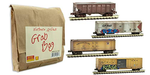 Micro-Trains MTL Z-Scale Northern Grab Bag Weathered/Graffiti Freight Cars 4-Pk