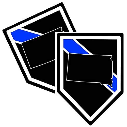 Lámina adhesiva resistente a la intemperie, fabricada en Alemania, Polizei, Estados Unidos, Policía del sur de DAKOTA, línea azul, resistente a los rayos UV y a los lavados F802