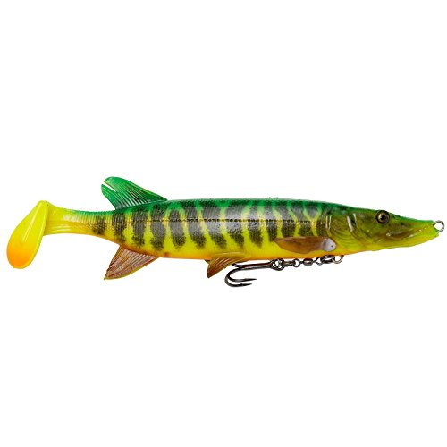 Savage Gear 4D Pike Shad - Ovillo de Lana, 20 cm, 65 g, SS, Fire Tiger