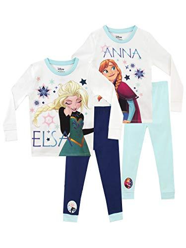 Disney Pigiama per Ragazze Confezione da 2 Frozen Multicolore 6-7 Anni