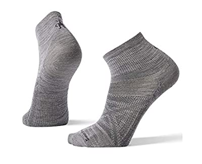 Smartwool PhD Outdoor Light Mini Socks - Men's Ultra Wool Performance Sock LIGHT GRAY Medium