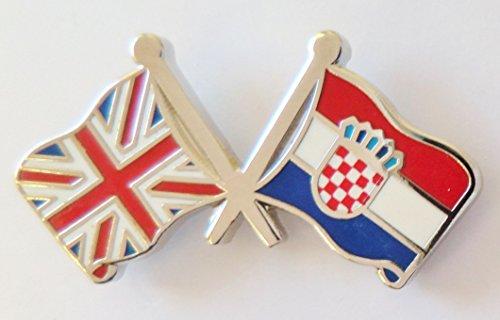 1000 drapeaux Croatie et drapeau du Royaume-Uni