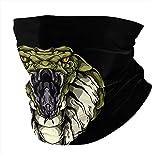 Fear from The King Cobra Neck Gaiter Headbands, Magic Scarf Washable Sun Protection Balaclava Face Cover Black