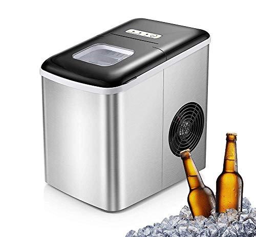 Máquina de fabricante de hielo, 9 cubos de hielo listos en 6 minutos, 22 libras de hielo cubitos de hielo en 24 horas, para barra de restaurante, fiesta familiar