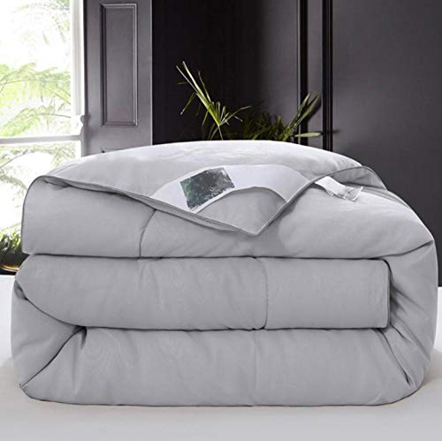 warm winter duvet king queen full twin size bed patchwork mulberry silk quilts.-gray_200CM_x_230CM_4KG
