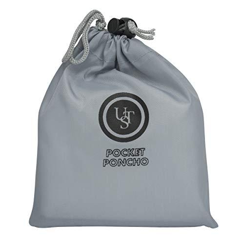 UST Poncho de poche transparent réutilisable avec sac de transport en nylon et construction en polyéthylène fiable pour protéger les éléments extérieurs inattendus