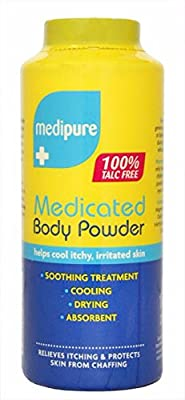 MEDIPURE MEDICATED BODY POWDER 100% TALC FREE 200g FREE FAST DELIVERY by BETAGLAM
