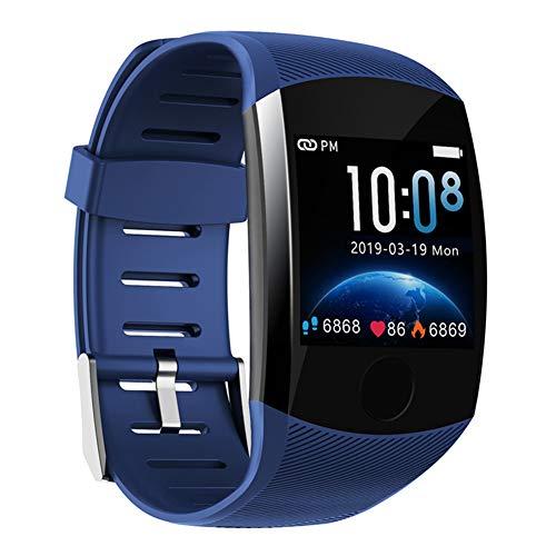 Nobrand QingDaoFuLongGuanHuangMuYeGongSi Bluetooth-Smartwatch, Herren, Q18, mit Kamera, Facebook, WhatsApp, Twitter, Synchronisation, SMS, unterstützt SIM- und TF-Karte für iOS Android, 0, blau