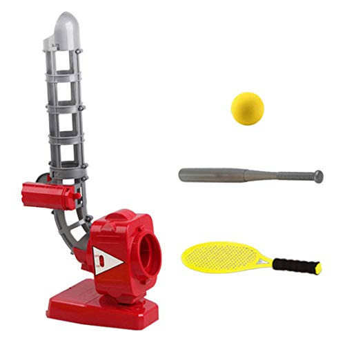 Searchyou 2-in-1 Baseball Pitching Machines for Kids, Tennis Racquet,...
