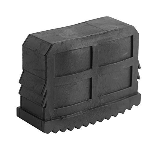 Patas de escalera de goma maciza Patas de escalera caseras negras, para pies de escalera de aluminio 57 x 21 mm