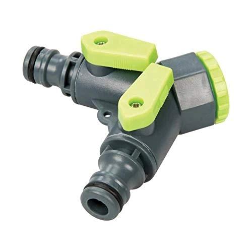 Silverline 444072 2-Wege-Wasserhahn-Verteiler 3/4-Zoll-BSP auf 1/2-Zoll
