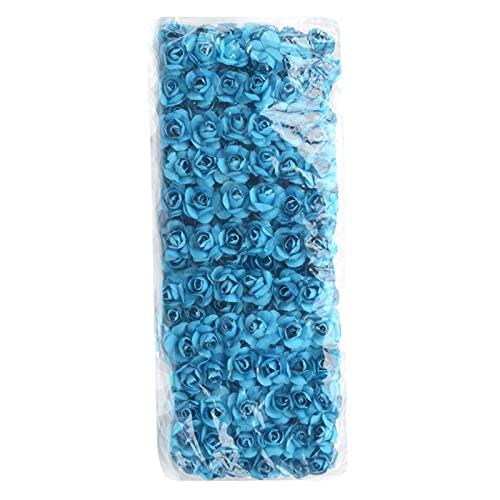 Blumenband 12/72 / 144 stücke gefälschte mini künstliche papier rose blume blumenstrauß für hochzeit dekoration handwerk scradebooking kranz handwerk Künstliche Blumen ( Color : Blue , Size : 12pcs )
