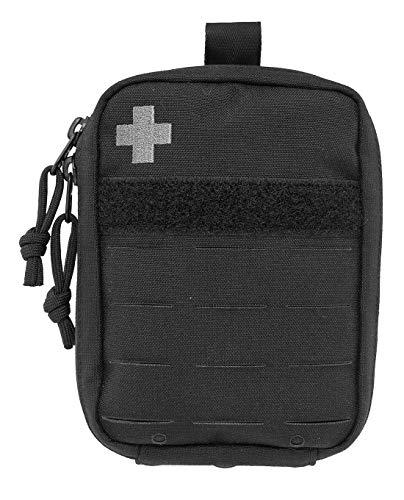 Tasmanian Tiger TT Tac Pouch Medic kompakte, Molle-kompatible Erste Hilfe IFAK Tasche mit Patch-Fläche 16 x 12 x 4 cm (Schwarz)
