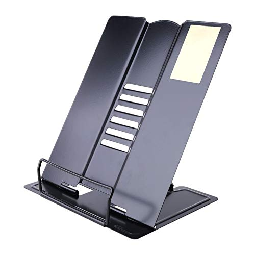Book Holder Collapsible Book Stand Portable Book Stands,for Magazine/Document/Cookbook/Tablet Black