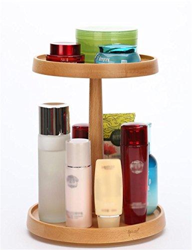KKCF Rotation Bois cosmétiques boîte de Rangement de Stockage de Bureau Etagères Soin de Peau Armoire de Rangement dépenses familiales (Taille : M)