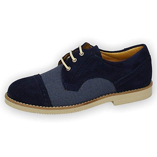 YOWAS 20335 Zapatos Elegantes NIÑO Zapato COMUNIÓN Marino 35