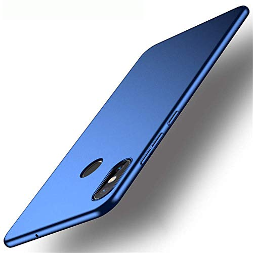 XunEda Funda Xiaomi Mi MAX 3 6.9 Ultra-Delgada Antideslizante Mate aAcabado PC Funda Protectora Dura Carcasa Case Cover para Xiaomi Mi MAX 3 Smartphone(Azul)