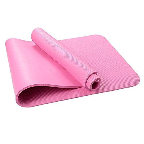 Esterilla de yoga con correa de transporte, clásica Pro Yoga Mat EVA antideslizante para uso en interiores y exteriores, pilates y ejercicios de suelo – 72 x 24 pulgadas