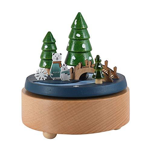 PZMXR Caja de Música Carrusel Caja Musical de Madera Carrusel Artesanías exquisitas Artesanías de Juguete Cumpleaños Decoración del hogar (Eres mi Sol