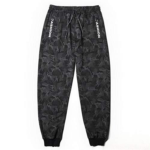 KUANGQIANWEI Hoodies man Pantalones deportivos de camuflaje for hombres Letter Plus Size 6XL 7XL 8XL Pantalones de chándal negros for hombre Pantalones de elasticidad suelta mens sweatshirts