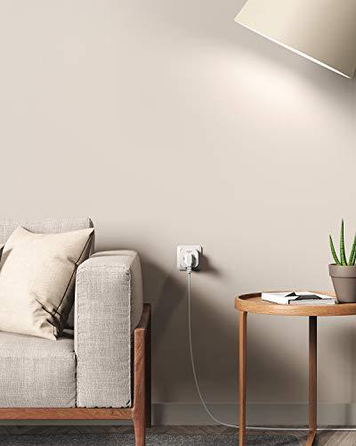 AUKEY Presa Smart WiFi Presa Intelligente con Accesso Remoto e Timer, Compatibile con Amazon Alexa e Google Home, Non Richiede Hub (Confezione da 2 Pezzi)