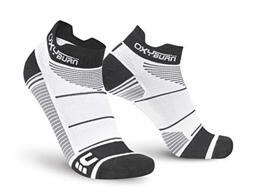 Oxyburn Run Evospeed Light - Low-Cut L Chaussettes Homme, Blanc/Noir, Size 42/44