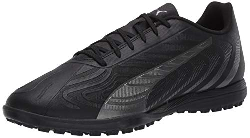 PUMA Men's ONE 20.4 TT Sneaker, Black-Asphalt, 13 M US