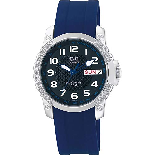 Q&Q Reloj Hombre Day-Date A166-305Y
