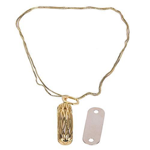 Belika Collana in Metallo con Ciondolo di Ricambio per Accessori Moda F-itbit F-Lex 2(Oro)