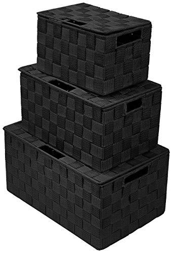 Sorbus - Cubo de almacenamiento plegable con asas integradas para organizar el hogar, guardería, sala de juegos, armario, dormitorio, etc.