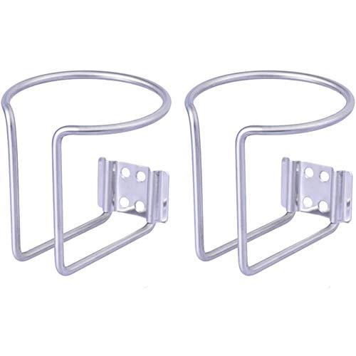 Cestbon Porte-gobelet Bague Bateau Porte-gobelets Anneau en Acier Inoxydable de 2 pièces (7,5 cm),Argent