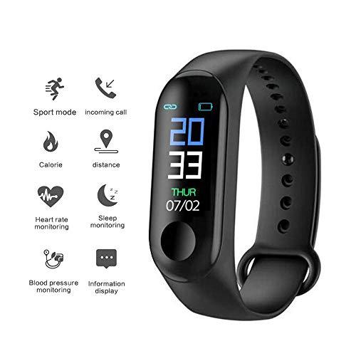 TEEPAO M3 Fitness Tracker Pulsera Inteligente Con BT 4.0, Reloj De Pulsera Para Ejercicio Con Monitor De Ritmo CardíAco Impermeable PodóMetro Contador De CaloríAs Y Pasos Para Hombres Mujeres