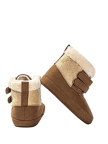 DELIMALI Botas de algodón de invierno para bebé con parte inferior antideslizante, gruesas y...