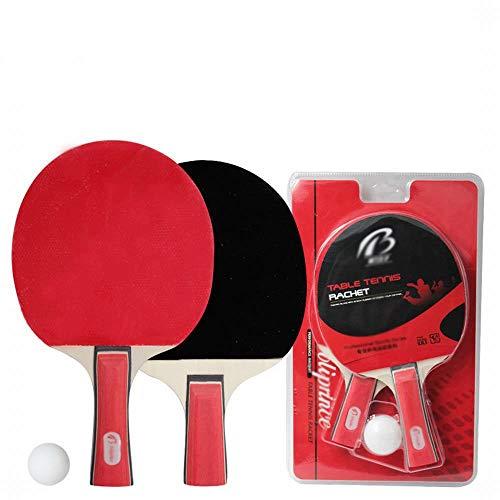 JKHOIUH Tischtennis-Set Tischtennisschläger Wettkampftraining Spezial-Tischtennisschläger Zwei Schläge EIN Ball (Horizontal + Stift Halten) (Size : 28 * 16CM/25 * 16CM)