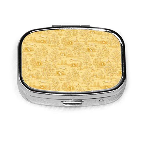 Jane Walker Pastillero portátil con reverso de galgo de oro © por Jane Walker Pastillero Recipiente para bolsillo o bolso de viaje medicaciones bolsa de transporte