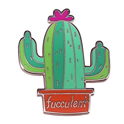 Kaktus-Brosche-Grünpflanzen-Abzeichen-Gärtner-Geschenk