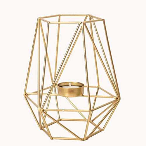 LIUJUAN Candlestick Holders Resin Candle Holder Modern Wrought Iron Geometric Candle Holder Gold Candlestick Tea Light Crafts For Home Party Wedding Decor Ornaments-4