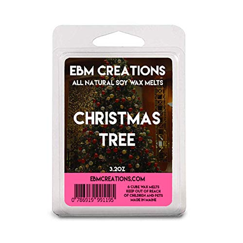 Christmas Tree - Scented All Natural Soy Wax Melts - 6 Cube Clamshell 3.2oz Highly Scented!