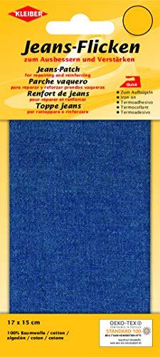 Kleiber + Co.GmbH Jeans-Bügelflicken, Polyester, Middle Blue, ca. 17 cm x 15 cm