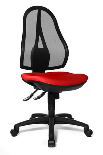 Topstar OP200G21 Open Point SY, Bürostuhl, Schreibtischstuhl, ergonomisch, Bezug rot