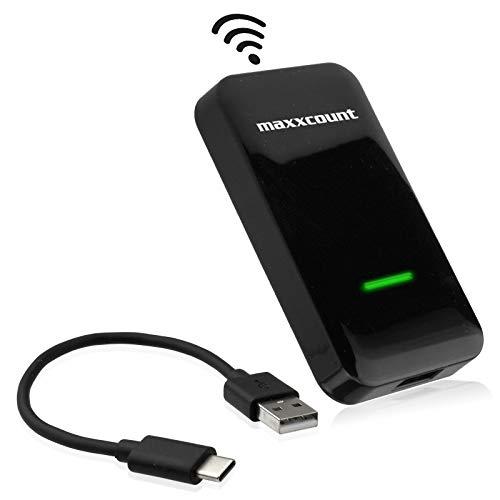 maxxcount Wireless Carplay Adapter: kabelgebundenes - kabelloses Apple Carplay (USB) | kompatibel mit Audi, Citroen, Ford, Honda, Hyundai, Lexus, Mercedes, Mazda, Opel, Porsche, Seat, Skoda, VW