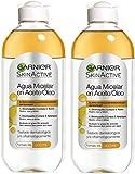 Garnier Skinactive Agua Micelar Aceite Waterproof Lote 2 X 400 Ml 800 ml