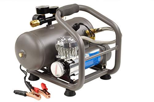 Pro-Lift-Werkzeuge Kompressor 12V Luftkompressor 7,2 bar 360W Reifenfüller Abgabemenge 60 l/min Werkstattkompressor Druckluftkessel 5l