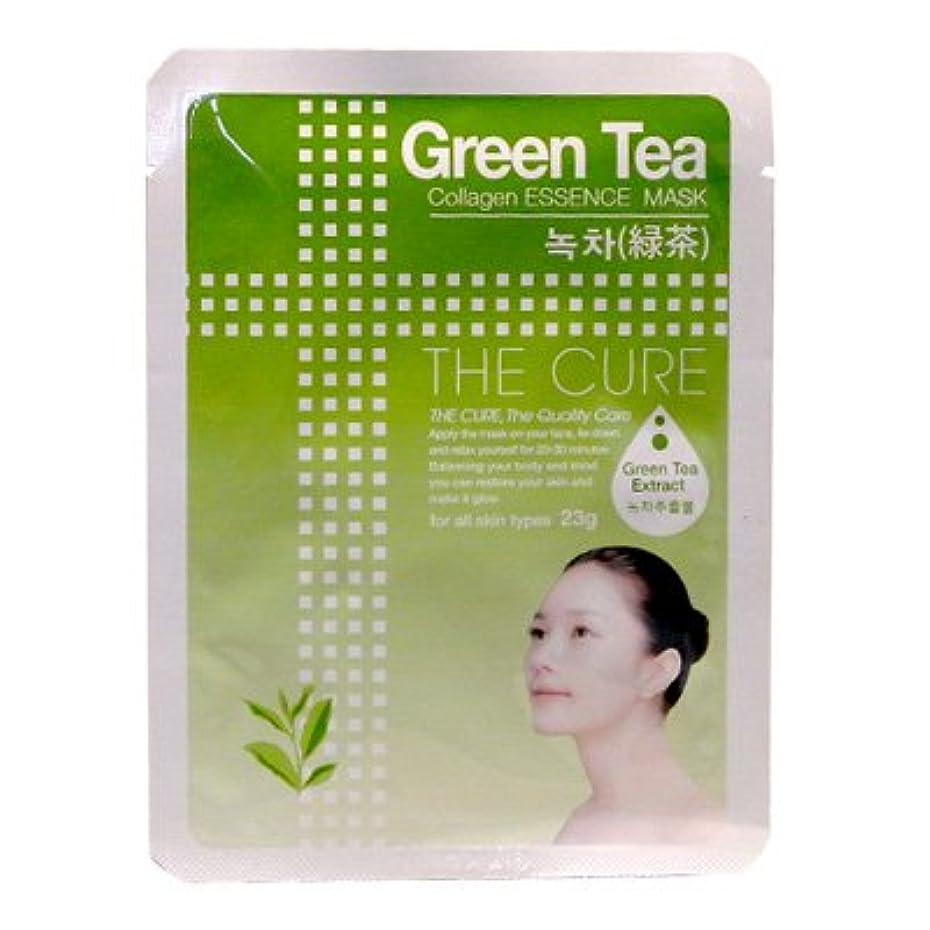 なめる寄生虫抽象CURE マスク シートパック 緑茶