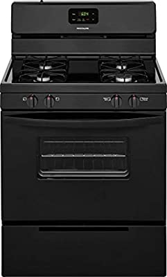 Frigidaire FFGF3016TB 30 Inch Gas Freestanding Range with 4 Sealed Burner Cooktop, 4.2 cu. ft. Primary Oven Capacity, in Black