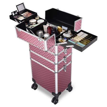 It is very popular 4 in 1 Combination Portland Mall Lockable Makeup 360 w Case Degree Swiv Train